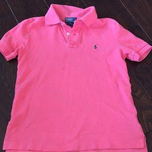 Boys medium pink Ralph Lauren polo shirt